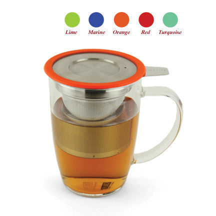 ForLife Tall Glass Mug with Infuser