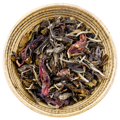 Chinese white tea with hibiscus