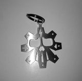 Brushed Stainless SMCO GEAR KEYCHAIN