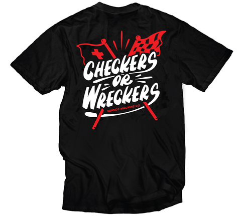 SM CHECKERS OR WRECKERS TEE
