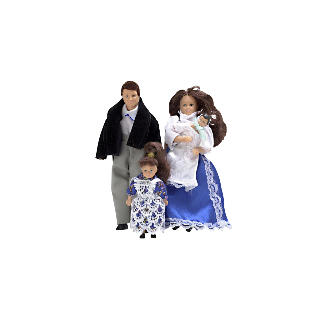 1 Inch Scale Modern Dollhouse Family Brunette