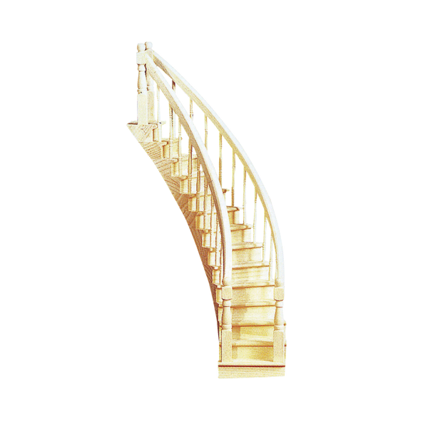 Assembled Curved Staircase Real Good Toys