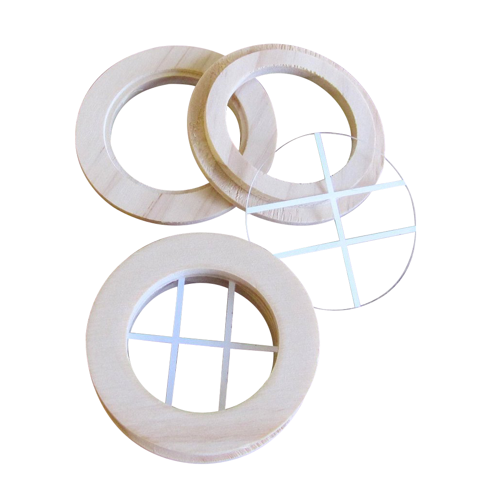 Round Dollhouse Window 2 Pack