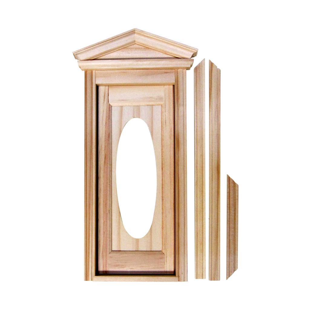 CLA76002-1:12 Scale Dollhouse Miniature Victorian Hooded Door