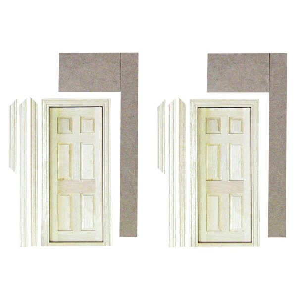 Dollhouse Interior Doors with Panel Parts