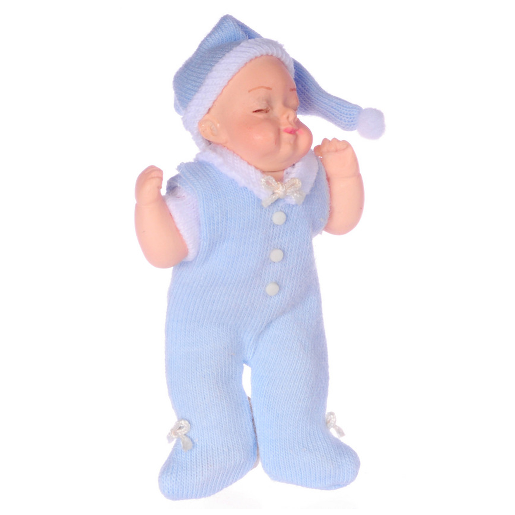 1 Inch Scale Porcelain Sleeping Baby Dollhouse Miniature