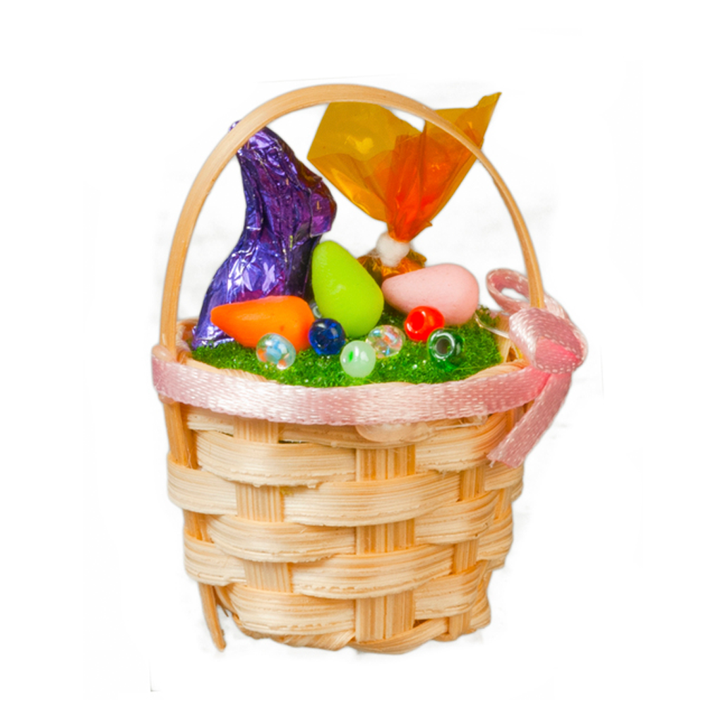 Decorated Easter Basket Dollhouse Miniature