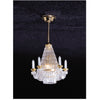 Brass Downrod Crystalene Chandelier Dollhouse Miniature Electrical Light
