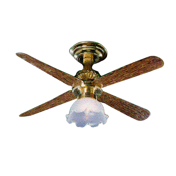 Tulip Shade Ceiling Fan Dollhouse Miniature Electrical Light
