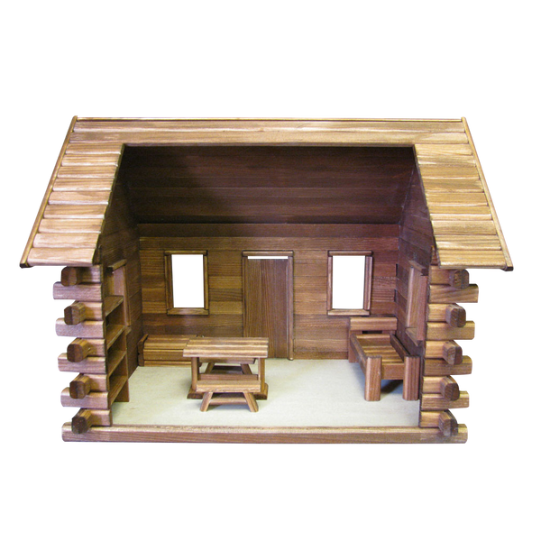 Crockett S Log Cabin Dollhouse Kit Real Good Toys
