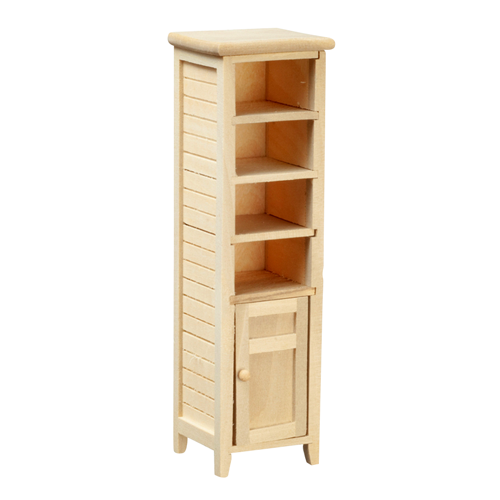 1 Inch Scale Unfinished Dollhouse Miniature Bathroom Cabinet