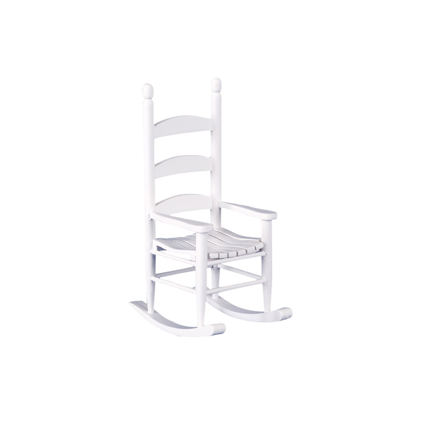 1 Inch Scale Dollhouse Miniature White Rocking Chair
