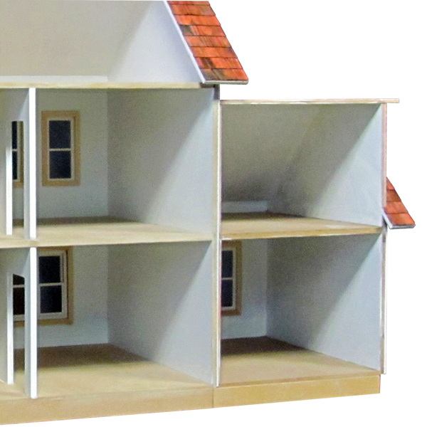 Colonial Dollhouse Addition Milled Mdf 5044 Real Good Toys