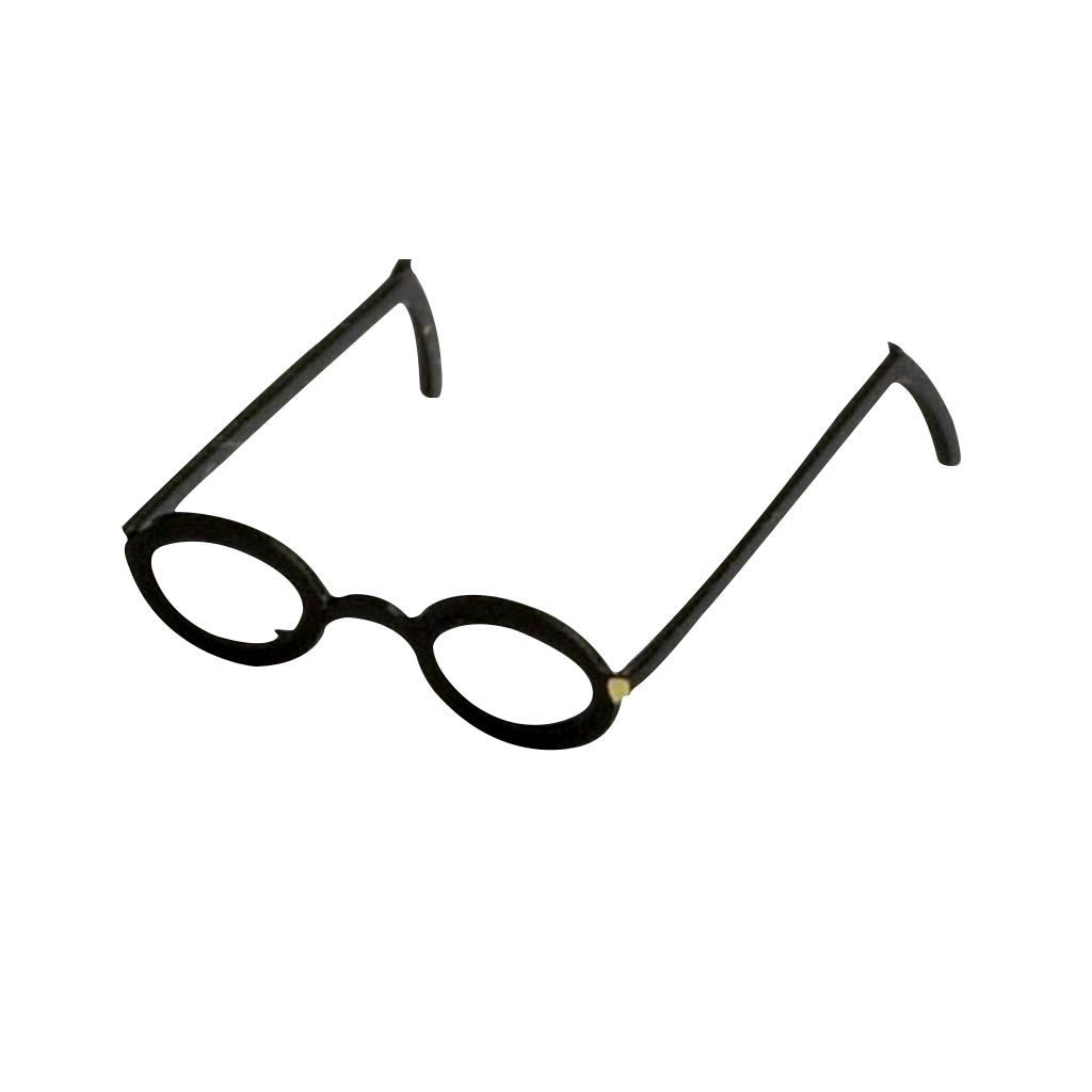 1 Inch Scale Black Round Frame Eyeglasses Dollhouse Miniature
