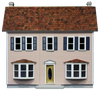 Bay Harbor Front-Opening Dollhouse Kit
