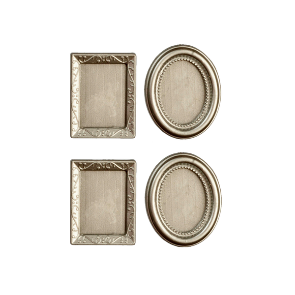 Silver Dollhouse Miniature Picture Frames