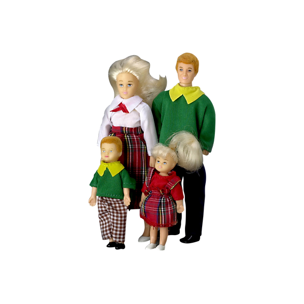 1 Inch Scale Modern Dollhouse Family Blonde