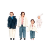 1 Inch Scale Porcelain Dollhouse Family