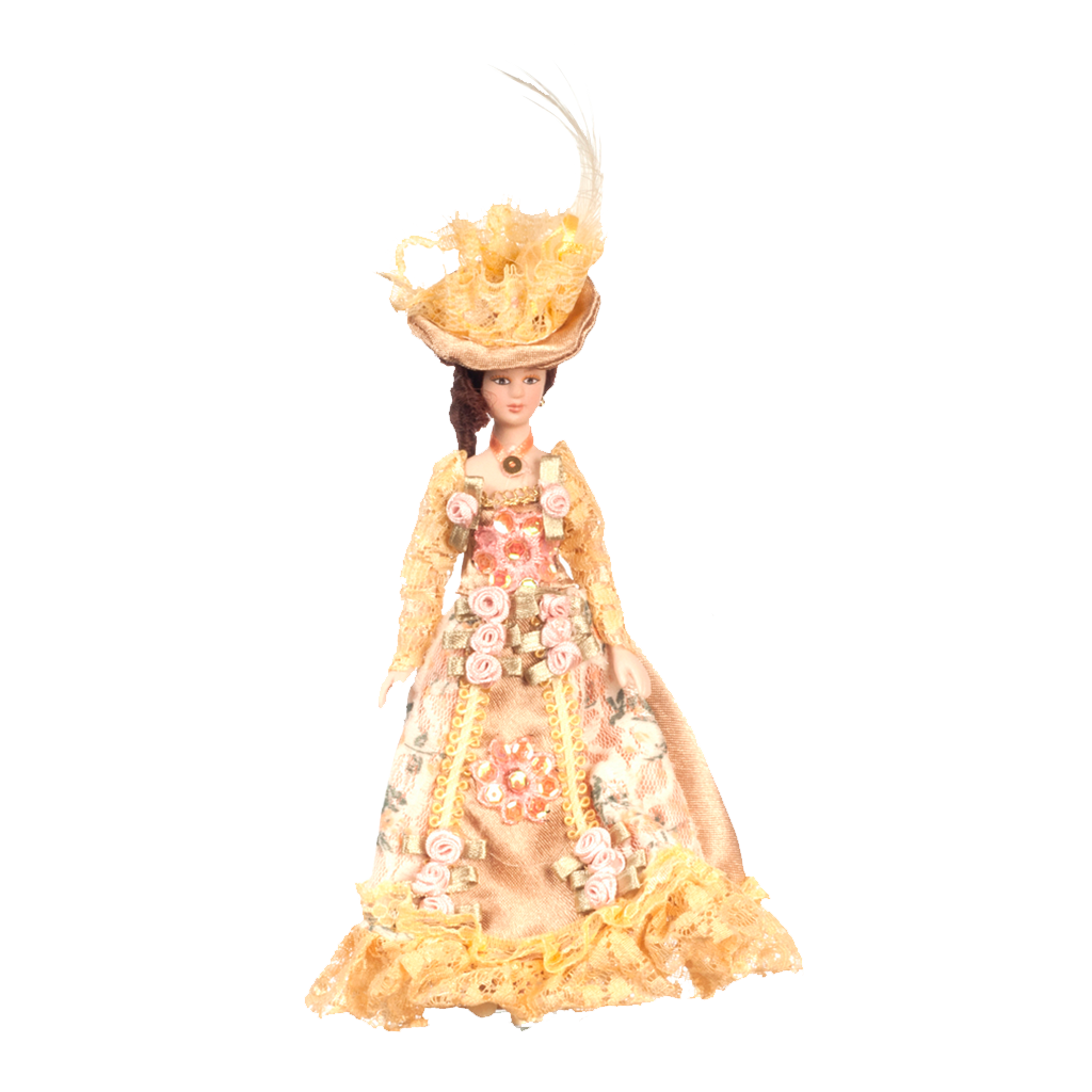 1 Inch Scale Victorian Lady in Floral Gown