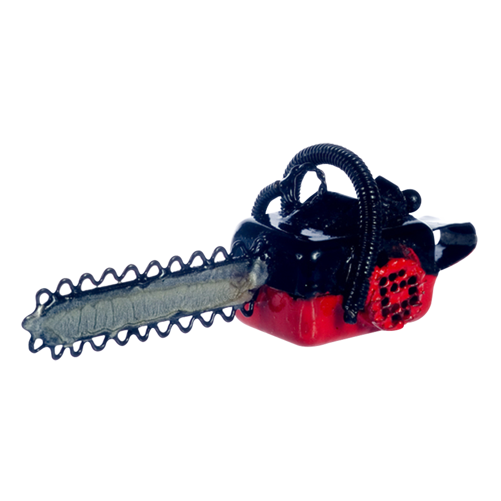 1 Inch Scale Dollhouse Miniature Chainsaw