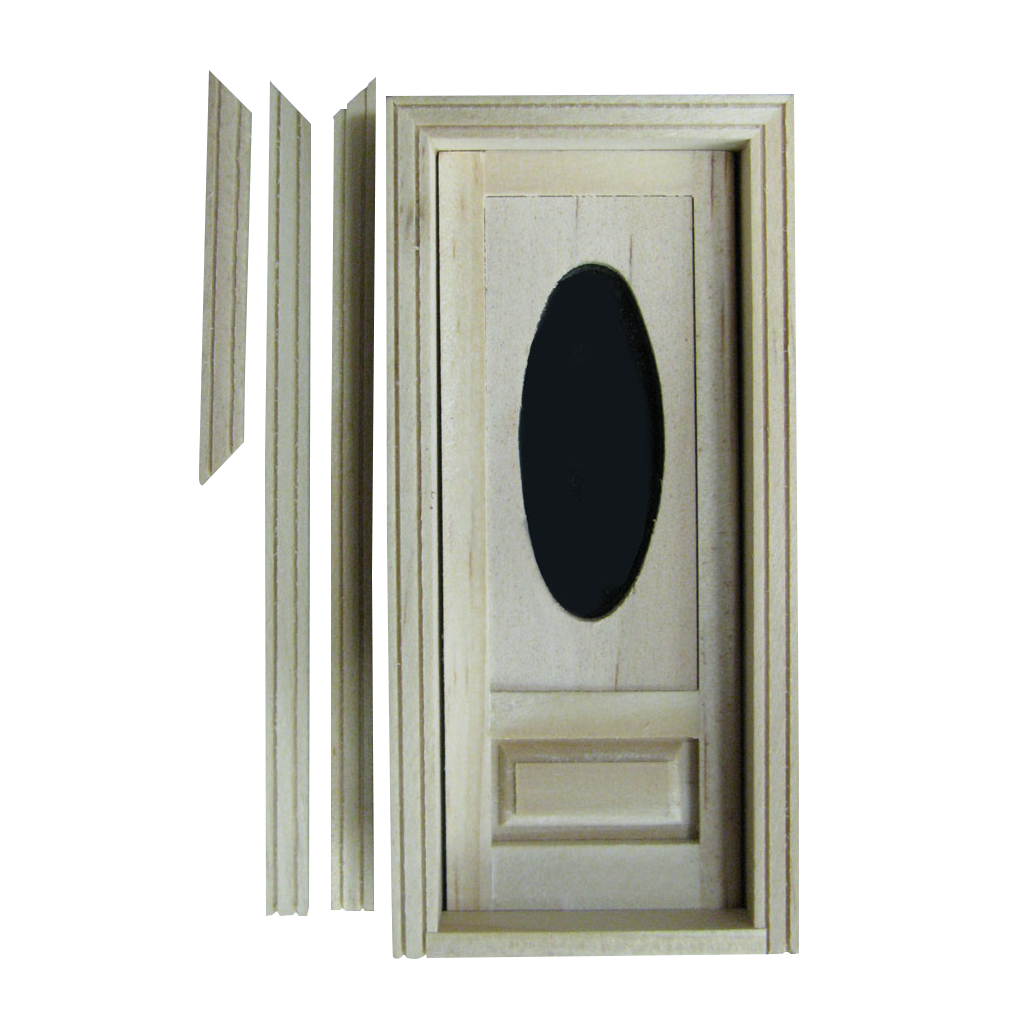 Half Scale Oval Light Dollhouse Door