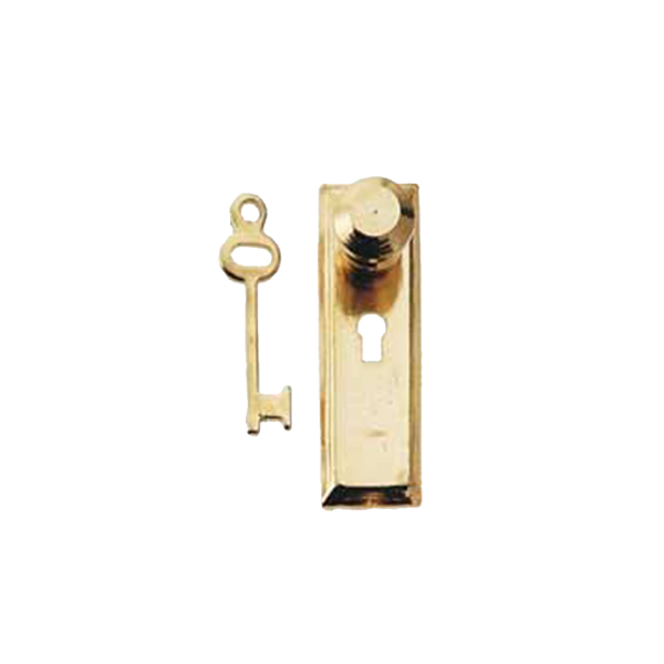Dollhouse Door Knob & Key Plate with Key