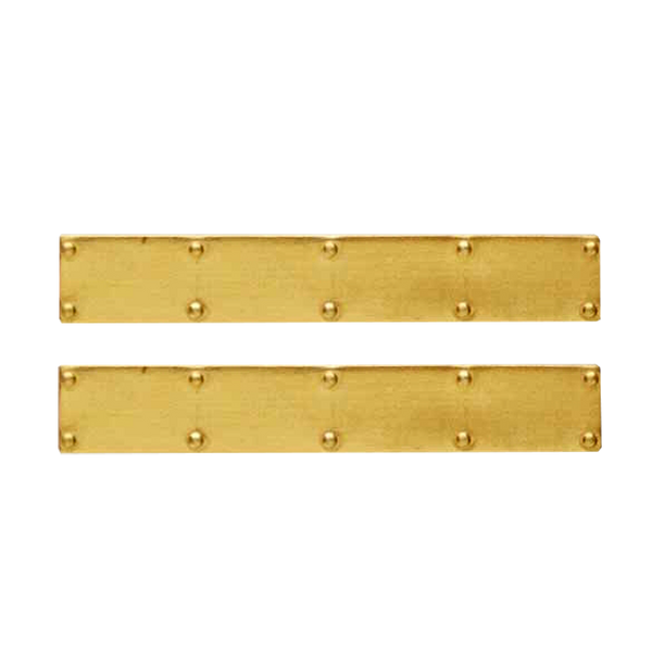 1 Inch Scale Brass Dollhouse Door Kick Plate - 2 pieces