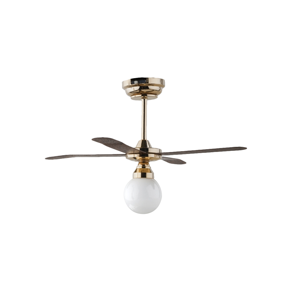 Houseworks LED Miniature White Globe Ceiling Fan Light Battery Operated