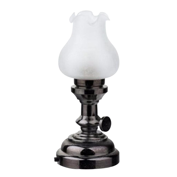 Houseworks Led Miniature Nickel Tulip Table Lamp Battery