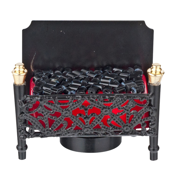 Houseworks LED Miniature Fireplace Firebox Battery Operated