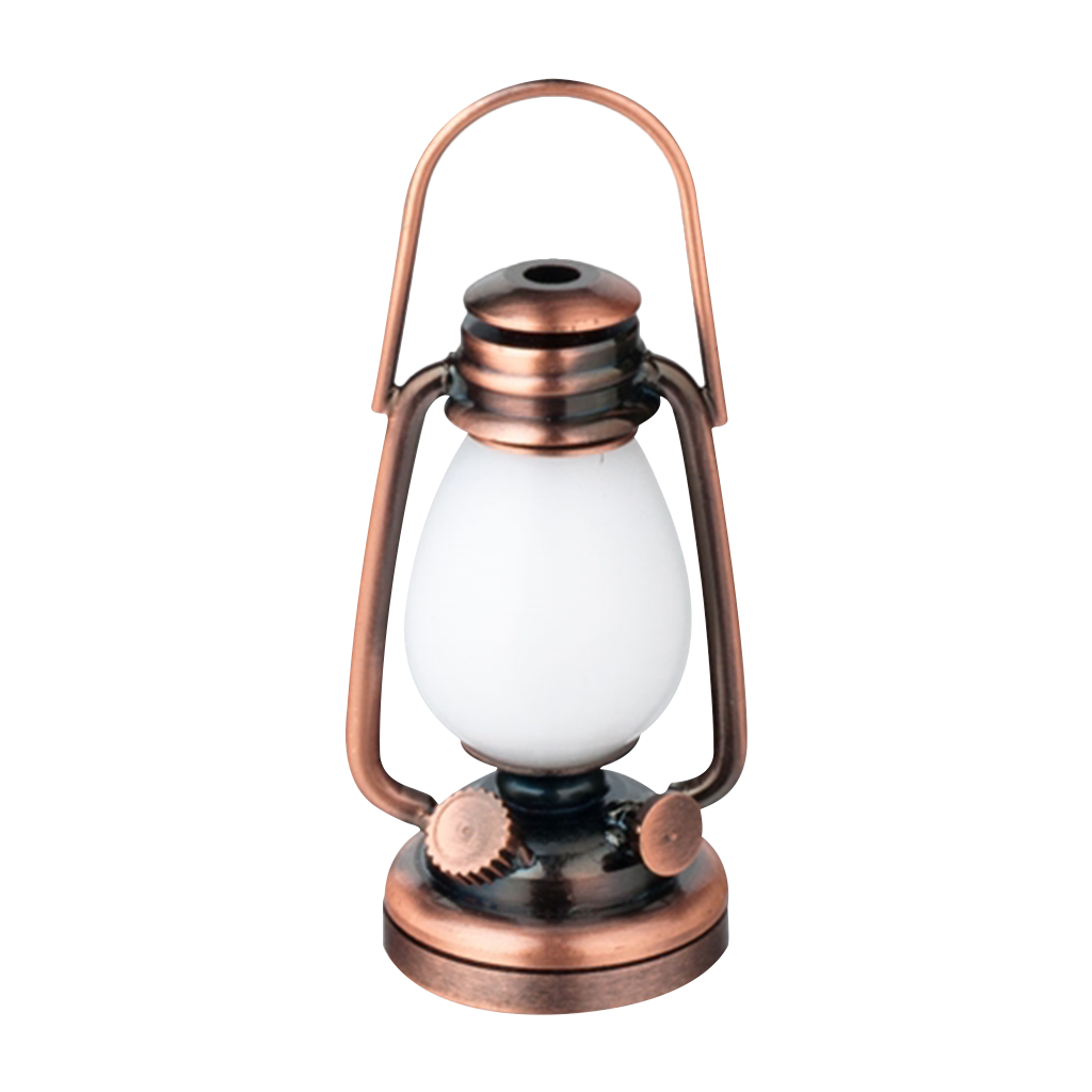 Houseworks LED Miniature Copper Oil Lamp Battery Operated
