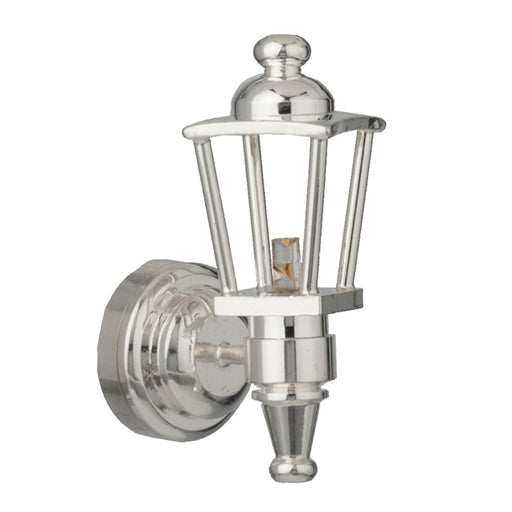 Houseworks LED Miniature Silver Carriage Lamp Battery Operated