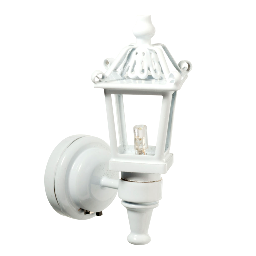 Houseworks LED Miniature White Fancy Coach Lamp Battery Operated