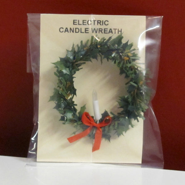 1 Inch Scale Wreath With Candle Dollhouse Miniature Real