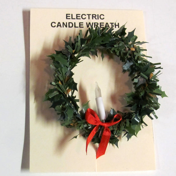 1 Inch Scale Wreath with Candle Dollhouse Miniature