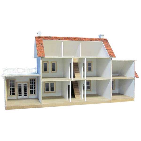 Colonial Dollhouse Addition Milled Mdf 1011 Real Good Toys