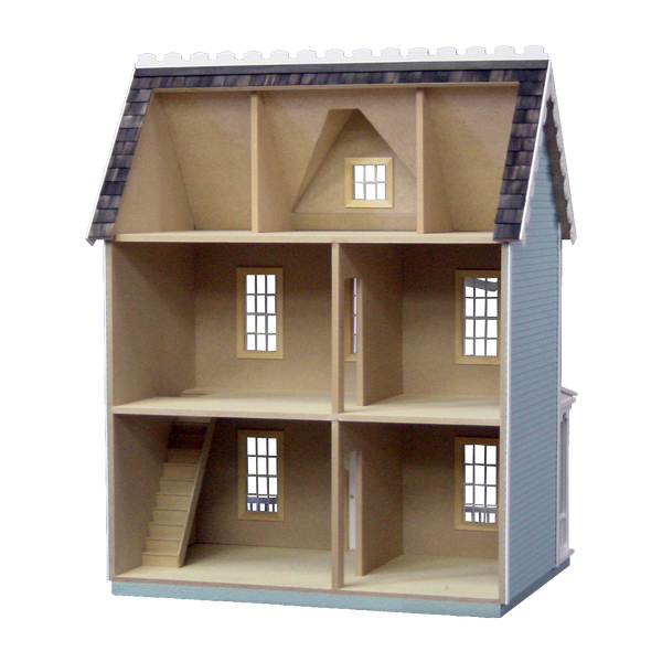Vermont Farmhouse Jr Dollhouse Kit Milled Mdf