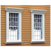 24 Light 1 Inch Scale Colonial Dollhouse Window