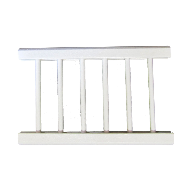 Assembled Rail Painted White 3 1/4 Inch