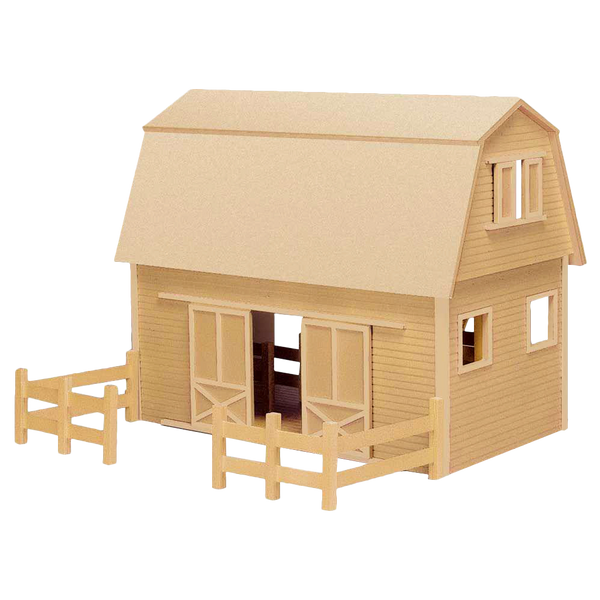 Ruff 'n Rustic All American Barn Dollhouse Kit