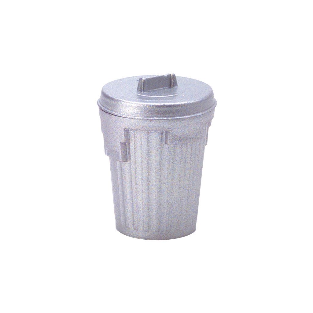 1 Inch Scale Dollhouse Miniature Garbage Can