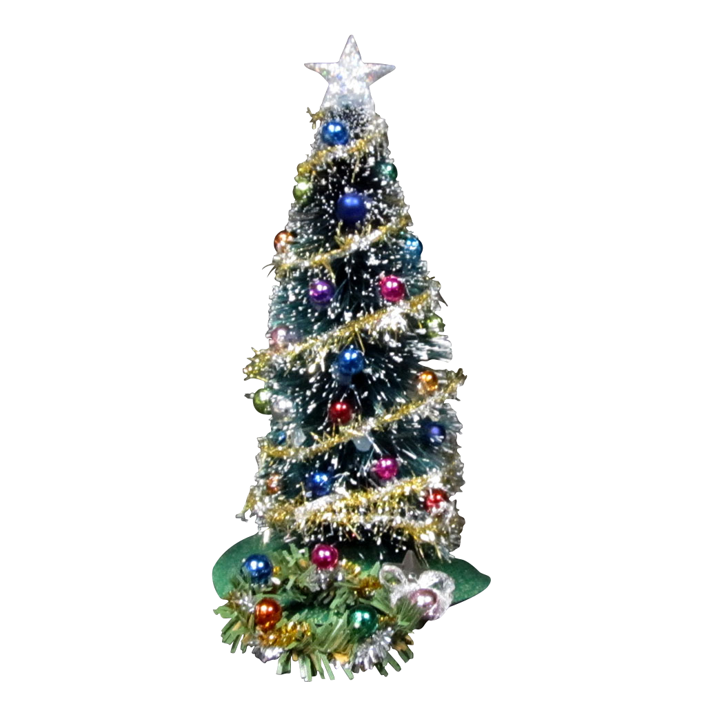 1 Inch Scale Decorated Traditional Christmas Tree Dollhouse Miniature
