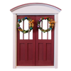 1 Inch Scale Traditional Decorated Wreath Dollhouse Miniature
