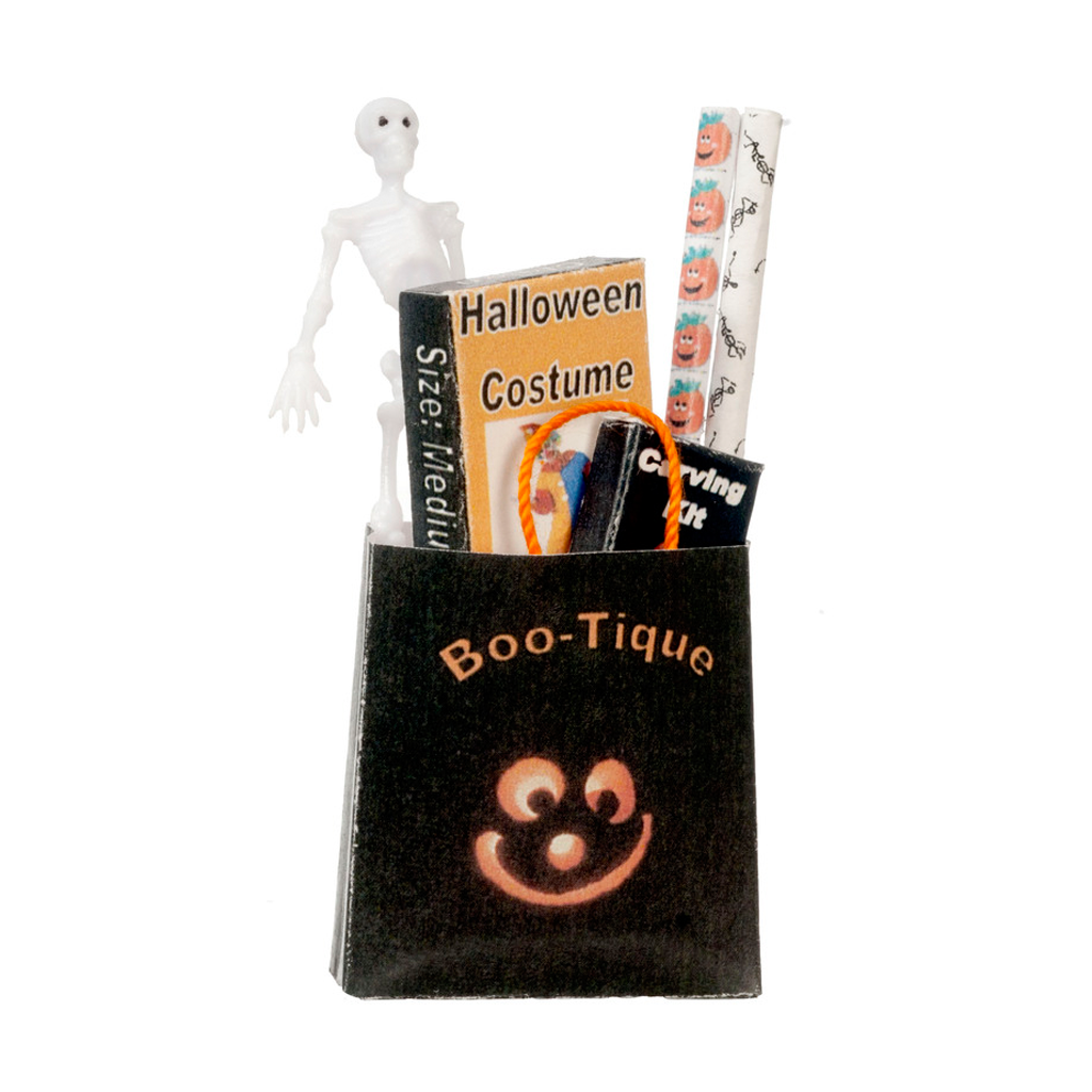 1 Inch Scale Halloween Filled Shopping Bag Dollhouse Miniature