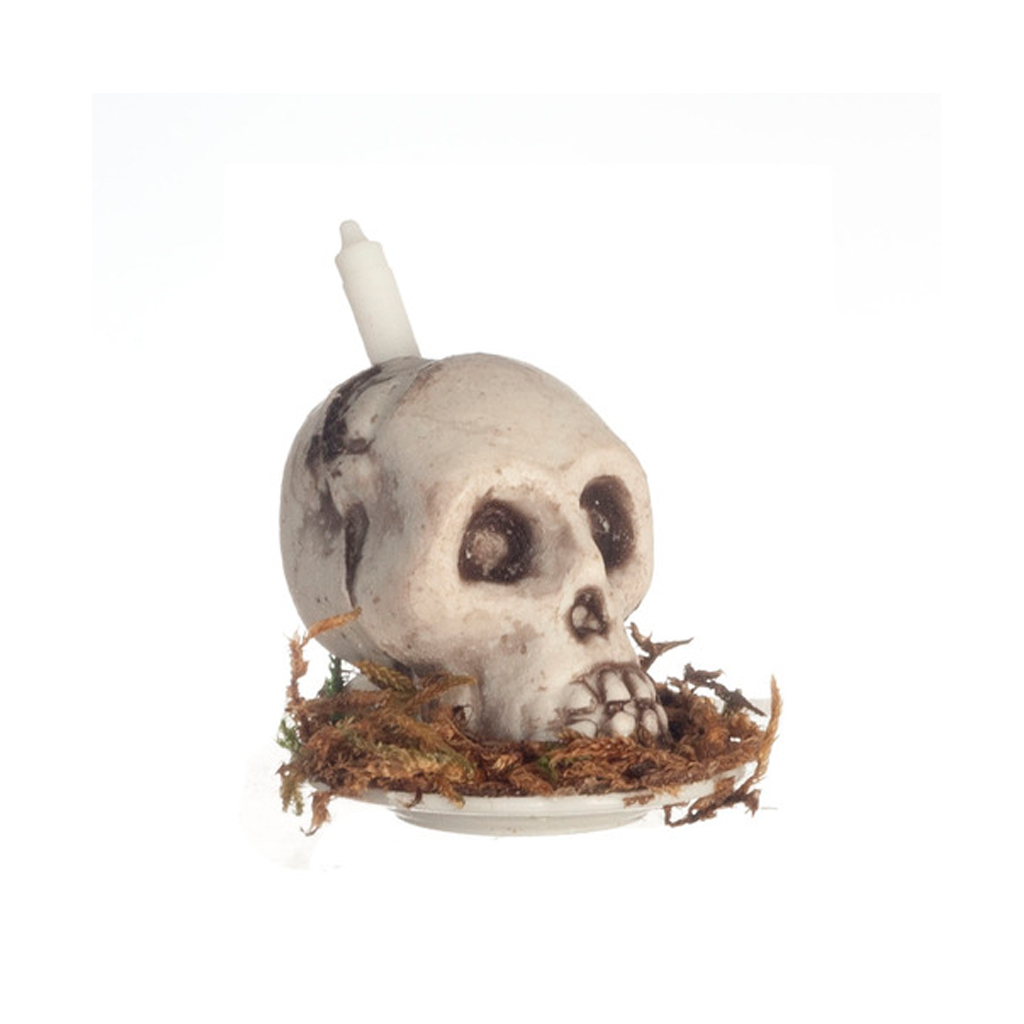 1 Inch Scale Halloween Skull Candle Dollhouse Miniature