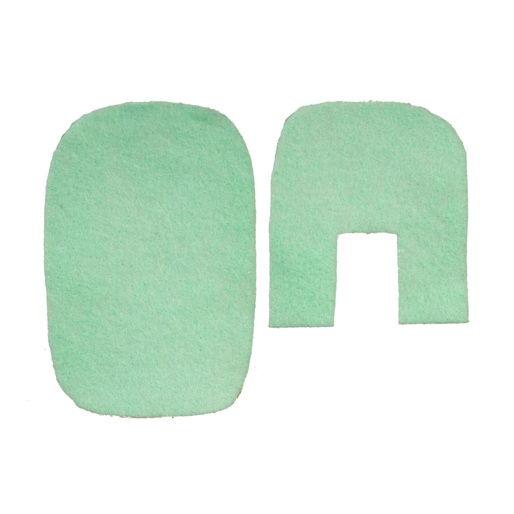 1 Inch Scale Dollhouse Miniature 2 Piece Bath Rug Set Green