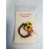 1 Inch Scale Decorated Grapevine Sunflower Wreath Dollhouse Miniature