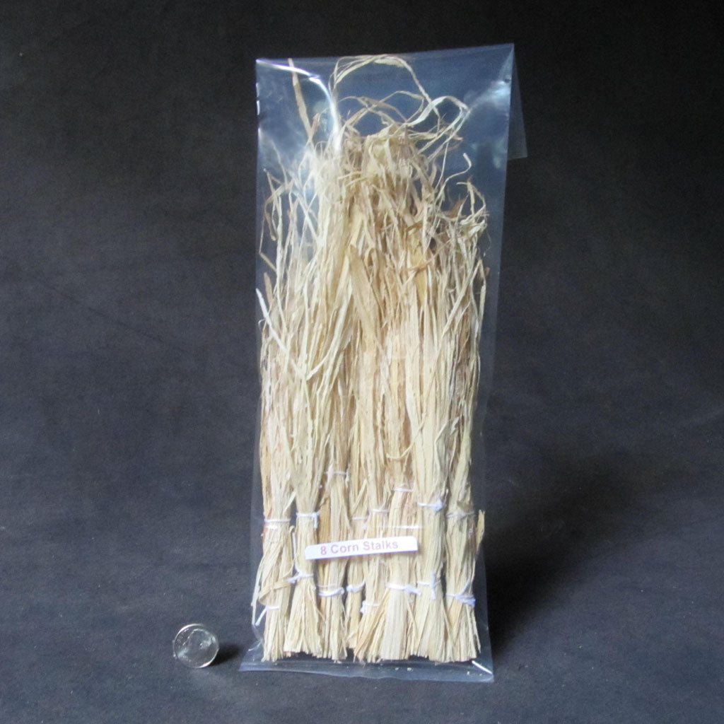 1 Inch Scale Set of 8 Corn Stalks Dollhouse Miniature