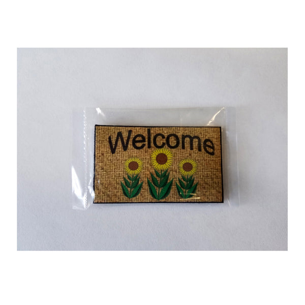 1 Inch Scale Sunflower Welcome Mat Dollhouse Miniature