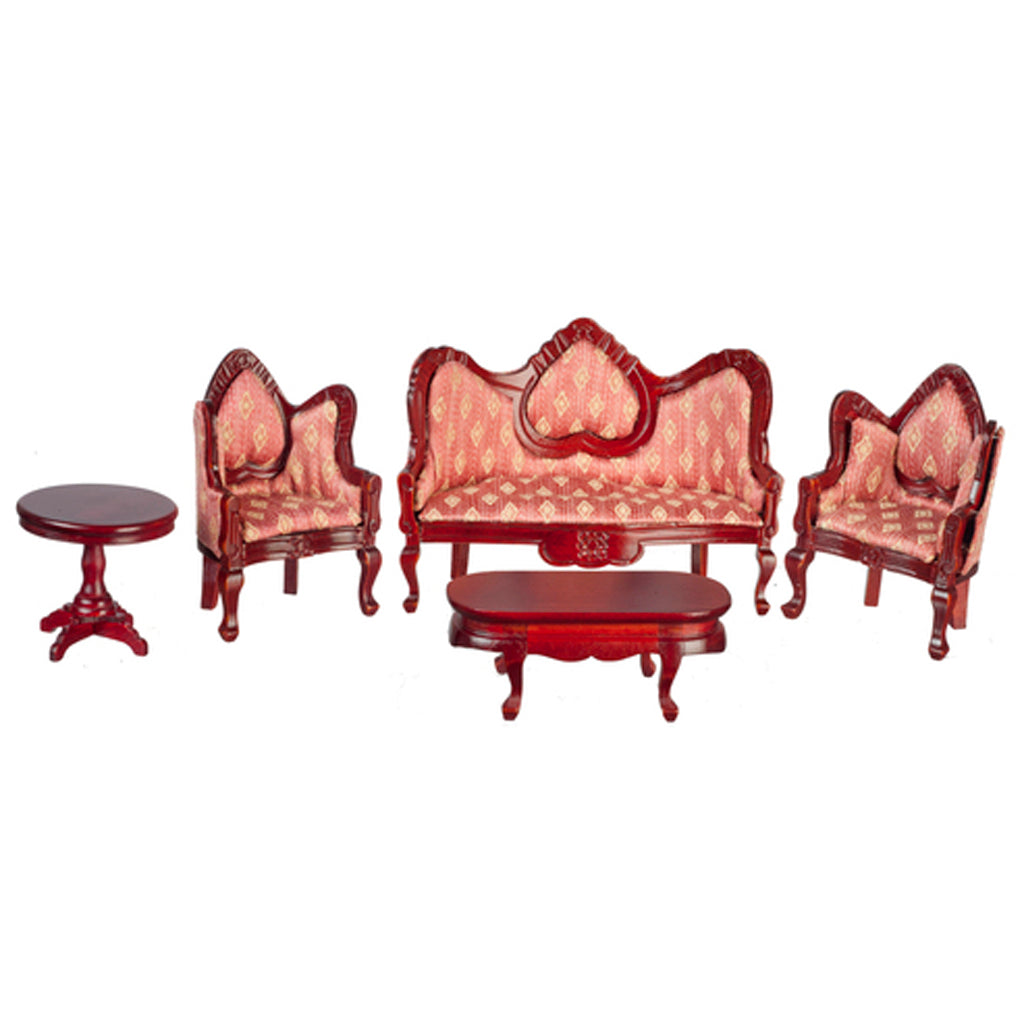 1 Inch Scale Dollhouse Victorian Living Room Set in Rose – Real Good ...